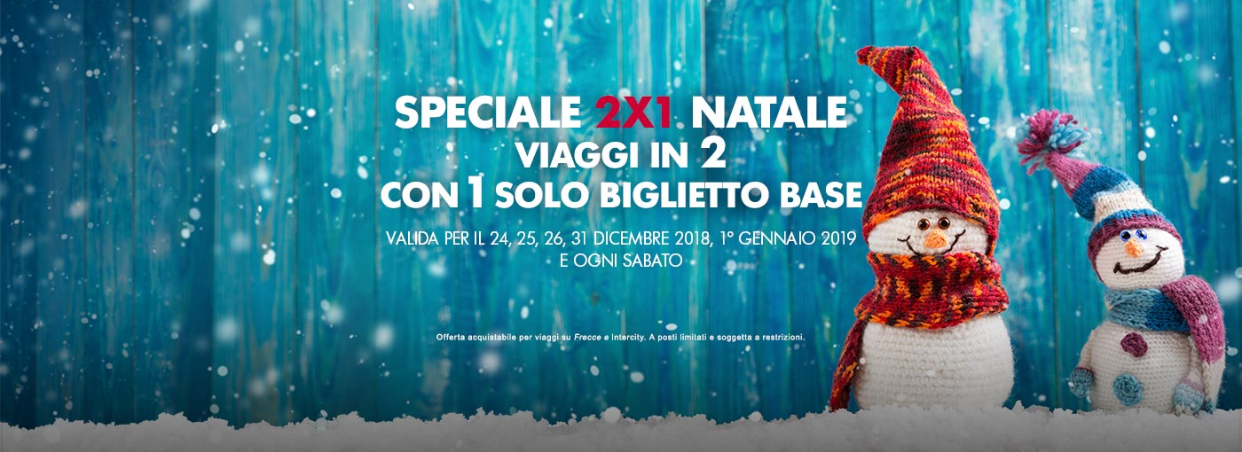 Trenitalia – Speciale 2×1 Natale